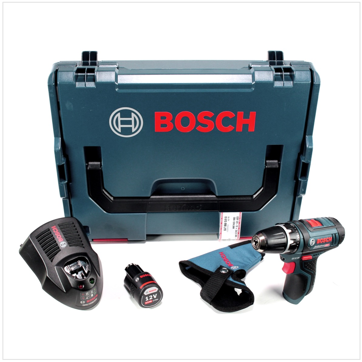bosch gsr 12v 15 professional akku bohrschrauber 1x 2 5 ah akku 1x lader ebay. Black Bedroom Furniture Sets. Home Design Ideas