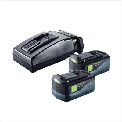 Festool TCL 6 Li-Ion Chargeur rapide ( 201135 ) + 2x Batteries Festool BP 18 Li 5,2 AS 18V 5,2 Ah Li-Ion avec Airstream Technologie ( 200181 ) – Bild 2
