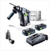Festool BHC 18 Li 3,1 Perforateur sans fil  SDS-Plus + Boîtier Systainer + 2x Batteries BP 3,1 Ah + Chargeur TCL 6 ( 574924 ) + Buse pour poussière de percage Festool D 27 BSD ( 500483 )