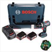 Bosch GSB 18 V-60 C Professional Li-Ion Brushless Akku Schlagbohrschrauber in L-Boxx + 2x GBA 5,0 Ah Akku + Ladegerät + Connectivity Modul