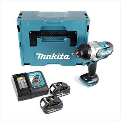 Makita DTW 1002 RTJ 18 V Li-Ion Brushless Boulonneuse à chocs sans fil avec Boîtier Makpac + 2x Batteries BL 1850 18V 5,0 Ah + Chargeur rapide DC 18 RC – Bild 2