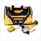 DeWalt DCG 412 - 18 V 125 mm XR Li-Ion Akku Winkelschleifer + 1x 4,0 Ah Akku + DeWalt Carry Bag Moto GP Sporttasche