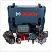 Bosch Professional GCL2-50C G03 12 V Akku Kombi Punkt- und Kreuzlinien Laser Rot + 2 Ah Akku + Ladegerät in L-Boxx ( 0601066G03 )