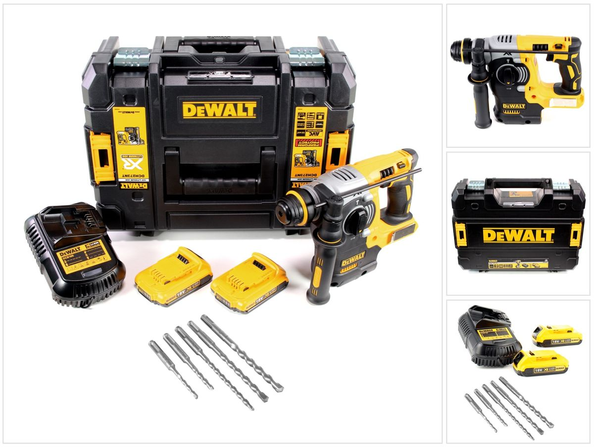 dewalt dch 273 d2 18 v brushless akku kombihammer sds plus in tstak box 2 x dcb 183 2 0 ah. Black Bedroom Furniture Sets. Home Design Ideas
