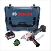 Bosch GWS 18 V-150 SC Professional Akku Winkelschleifer 150 mm in L-Boxx mit GCY 30-4 Connectivity Modul und 1x GBA 6,3 Ah EneRacer Akku