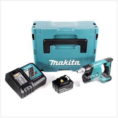 Makita DFS 450 RM1J 18 V Akku Schnellbauschrauber Trockenbauschrauber im Makpac mit 1x 4,0 Ah Akku und Schnellladegerät – Bild 2
