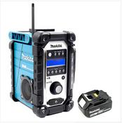 Makita DMR 104 Baustellen Radio Schwarz Grün DAB Digital + 1x BL 1850 18V - 5Ah Akku - ohne Ladegerät