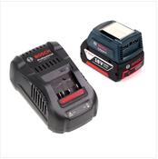 Bosch USB Power Set 18 V mit GAA Professional USB Adapter für 14,4 V / 18 V Akkus + 1x GBA 18V 3,0 Ah Li-Ion Einschub Akku + 1x Schnell Ladegerät GAL 1880 CV