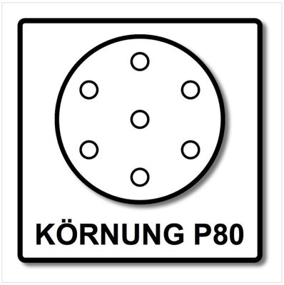 Festool STF D150/16 Rubin2 Disque abrasif P80 RU2/50 150 mm / 50 pcs ( 499119 ) – Bild 4