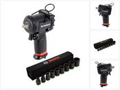 """Facom NS.1600 F 1/2"""" 861 Nm Micro Druckluft Schlagschrauber mit Bosch Professional 1/2"""" Steckschlüssel Einsätze Außen Sechskant Nüsse Set 9 tlg. ( 2608551100 )"""