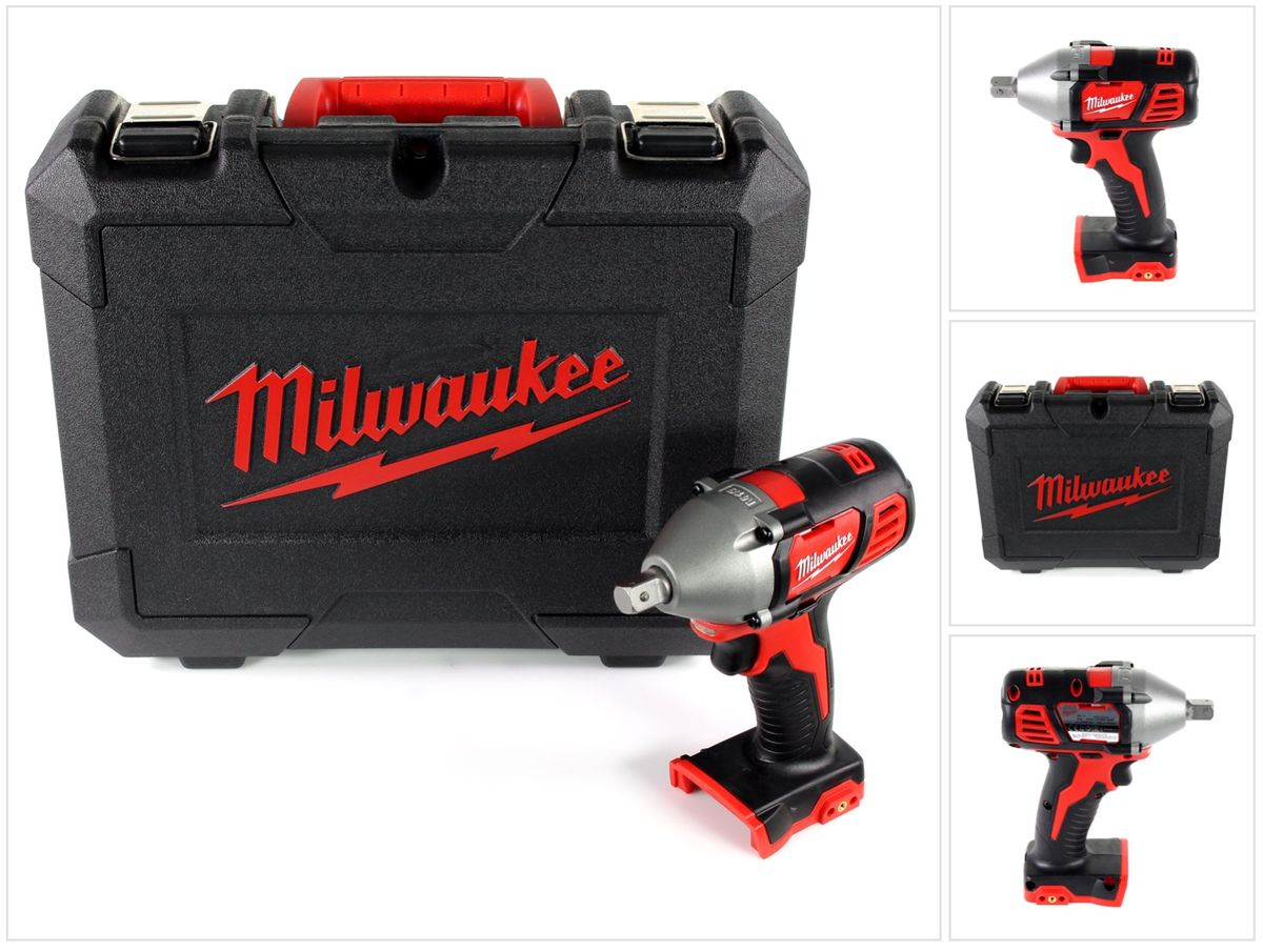milwaukee m18 biw12 18v li ion akku 1 2 schlagschrauber solo im werkzeug koffer ebay. Black Bedroom Furniture Sets. Home Design Ideas