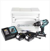 Makita DHP 458 B RTJ 18V Li-ion Perceuse visseuse à percussion sans fil + Coffret Tanos Systainer® + 2x Batteries BL 1850 5 Ah + Chargeur DC 18 RC
