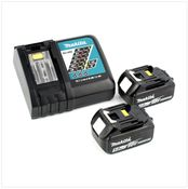 Makita Kit avec 2x Batteries Makita BL 1850 18 V 5,0 Ah Li-Ion + Chargeur rapide DC 18 RC