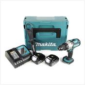 Makita DDF 451 RMJ 18 V Li-Ion Akku Bohrschrauber im Makpac + 2x BL 1840 4,0 Ah Li-Ion Akku + 1x DC 18 RC Ladegerät