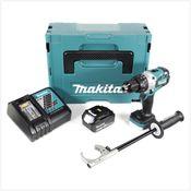 Makita DHP 481 RM1J 18V Perceuse Visseuse à Percussion sans fil Brushless 115 Nm avec boîtier Makpac + 1x Batterie 4Ah Li-Ion + Chargeur