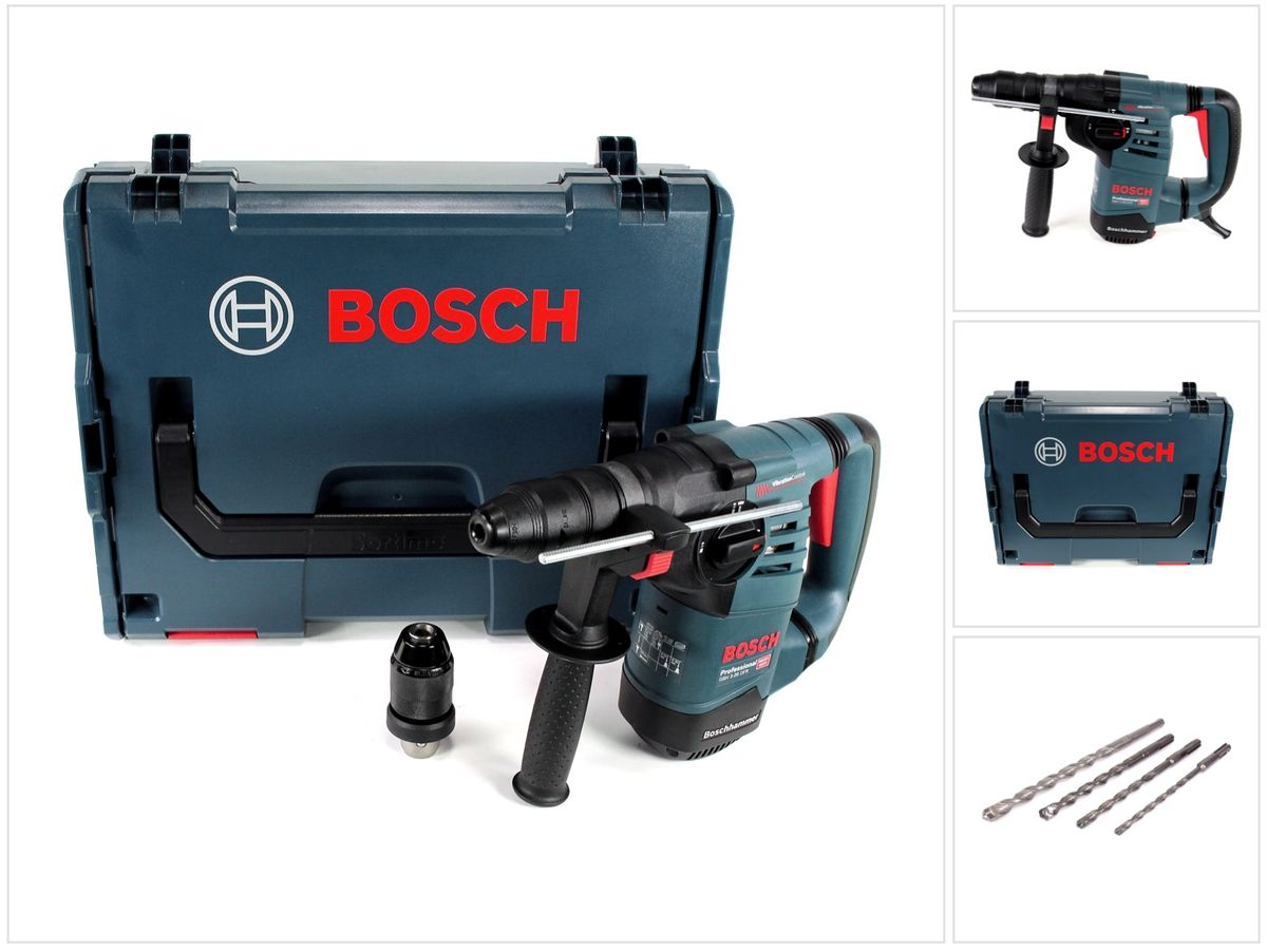 bosch gbh 3 28 dfr professional bohrhammer in l boxx mit 4 tlg bohrer set ebay. Black Bedroom Furniture Sets. Home Design Ideas