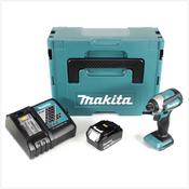 Makita DTD 153 RF1J 18V Brushless Visseuse à choc sans fil + Boîter Makpac + 1x Batterie BL 1830 3,0 Ah Li-Ion + Chargeur DC 18 RC