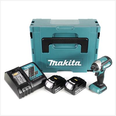 "Makita DTD 153 RFJ Akku Schlagschrauber 1/4"" 18V 170Nm brushless + 2x Akkus 3,0 Ah + Schnellladegerät im Makpac 2 – Bild 2"