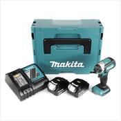 Makita DTD 153 RMJ Akku Schlagschrauber 18V 170Nm+ 2x Akkus 4,0Ah + Schnellladegerät im Makpac 2