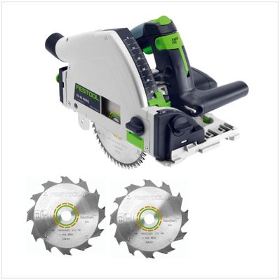 Festool TS 55 RQ-PLUS Scie plongeante 1050 Watt ( 561579 ) + Coffret de transport + 2x Lame de scie Panther HW 160x2,2x20 PW12 160 mm 12 dents( 496301 ) – Bild 2