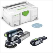 Festool ETSC 125 Akku Exzenterschleifer 18V 125mm brushless + 1x ACA 220-240/18V Ergo Netzadapter + Systainer