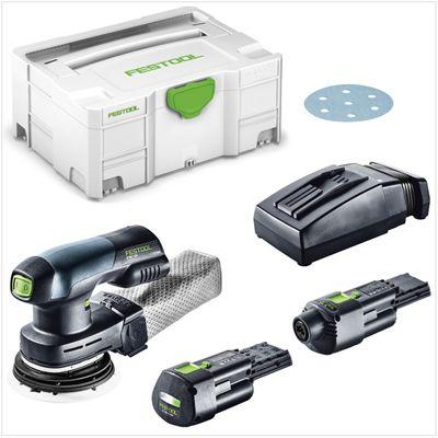 Festool ETSC 125 Akku Exzenterschleifer 18V 125mm brushless + 1x Akku 3,1Ah + Ladegerät + Netzadapter + Systainer – Bild 2
