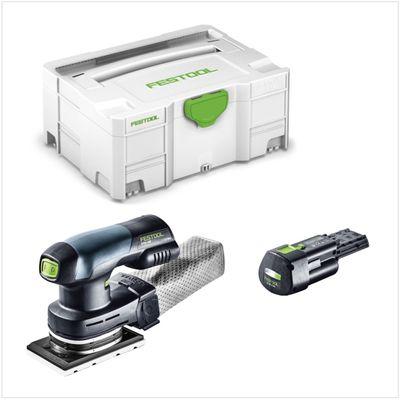 Festool RTSC 400 18V Ponceuse vibrante hybride sans fil ou secteur avec boîtier Systainer + 1x Batterie BP 18 Li 3,1 Ah Ergo - sans Chargeur – Bild 2