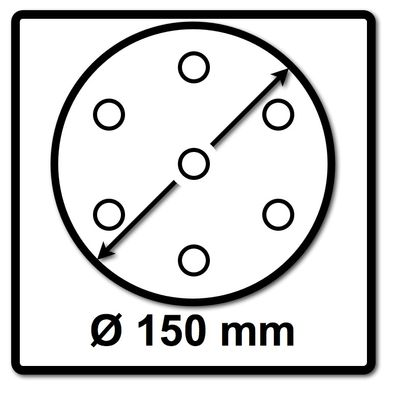 Festool Abrasif maillé STF D150 P150 GR NET/50 Granat Net 150 mm / 50 Pcs. ( 203306 ) – Bild 3