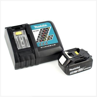 Makita DHS 680 RT1J Scie circulaire sans fil 18V Ø 165 mm + Boîtier MAKPAC 3 + 1x Batterie BL1850 5,0 Ah + Chargeur DC18RC – Bild 5