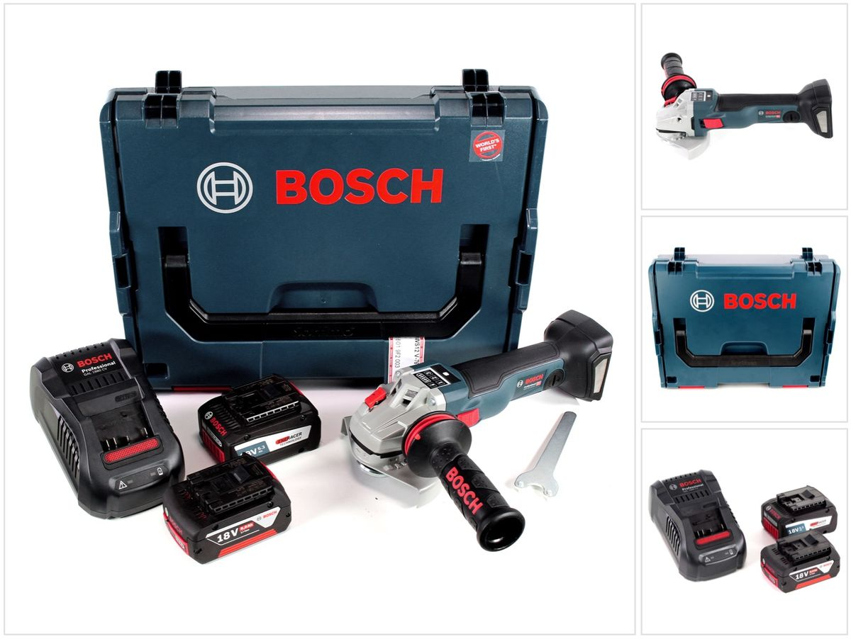 bosch gws 18 v 125 sc professional akku winkelschleifer 125mm brushless in l boxx mit 2x gba 6 0. Black Bedroom Furniture Sets. Home Design Ideas