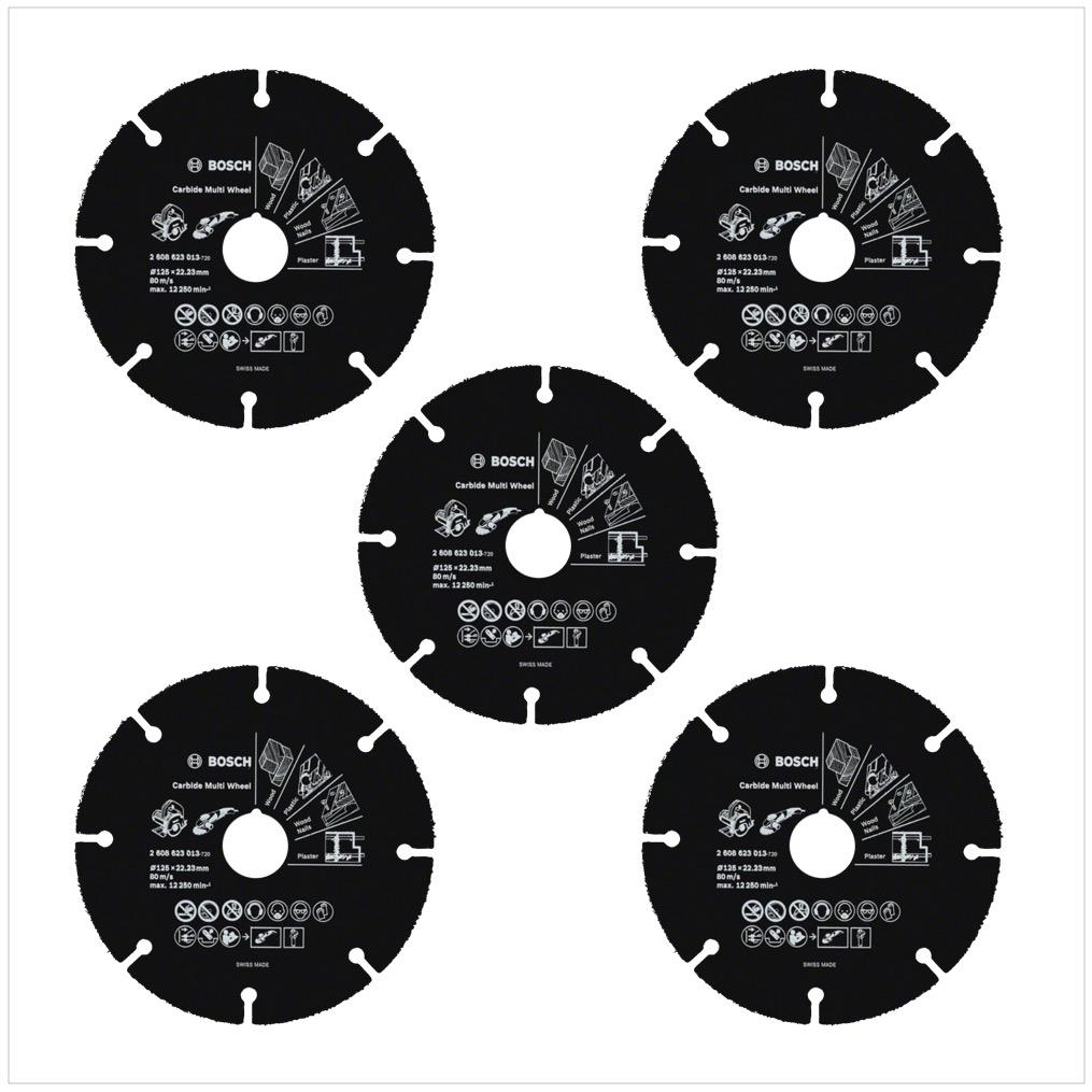 Bosch 5x Carbide Multi Wheel Hartmetall Trennscheibe 125 Mm 5x