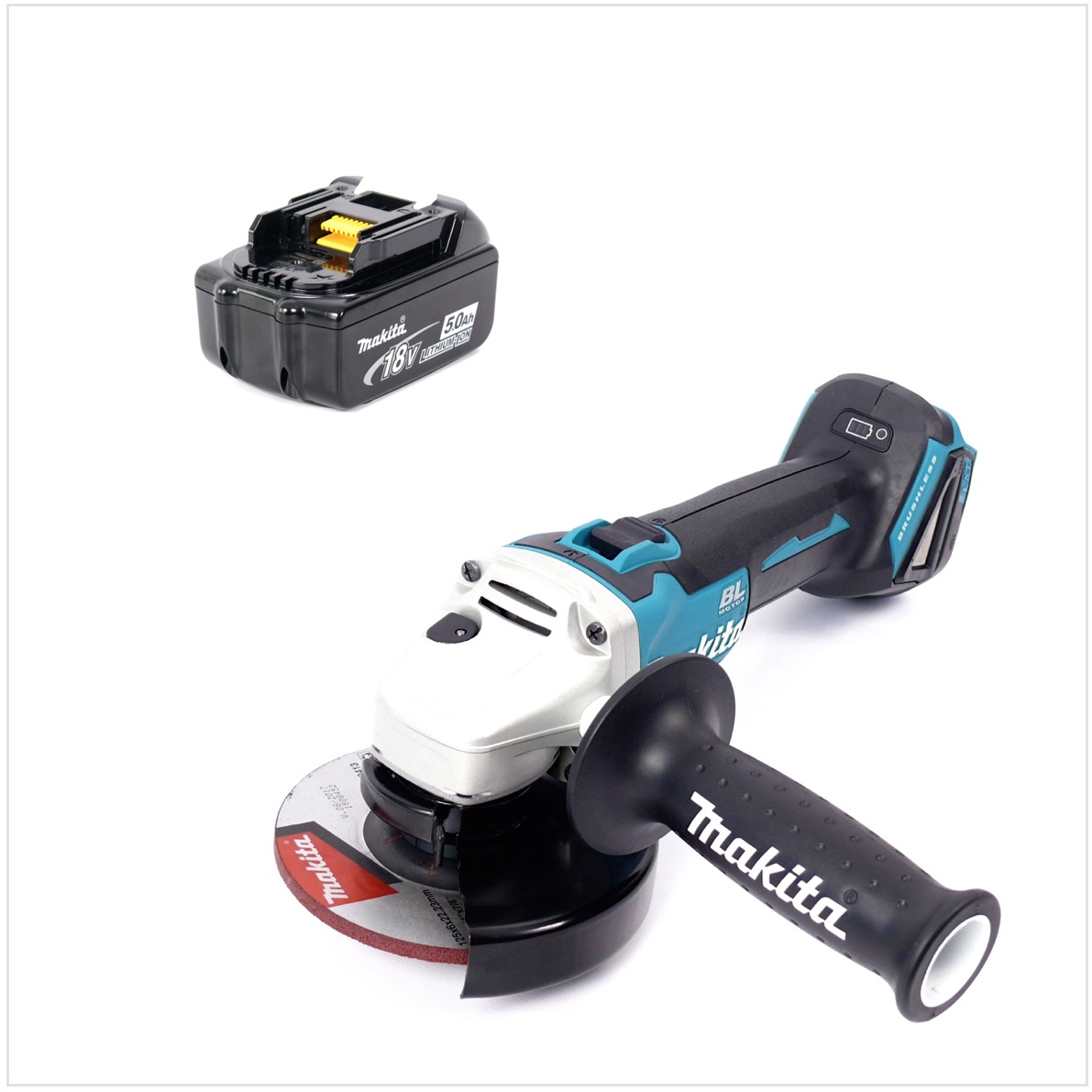 makita dga 504 18v li ion akku 125 mm brushless winkelschleifer mit 1x 5 ah akku ebay. Black Bedroom Furniture Sets. Home Design Ideas