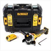 DeWalt DCG 405 18 V 125 mm Brushless Akku Winkelschleifer + 1 x 2 Ah Akku im TStak Werkzeugkoffer