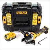 DeWalt DCG 405 18 V 125 mm Brushless Akku Winkelschleifer + 1 x 5 Ah Akku im TStak Werkzeugkoffer