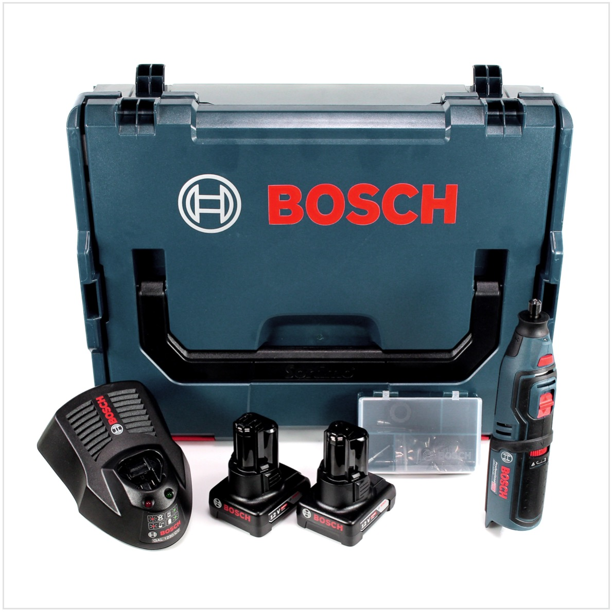 bosch gro 12v 35 professional akku rotationswerkzeug in l boxx mit 2x gba 6 0 ah akku und gal. Black Bedroom Furniture Sets. Home Design Ideas