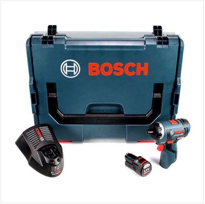 Bosch GSR 12V-20 HX Akku Bohrschrauber 12V 20Nm in L-Boxx + 1x 3,0 Ah Akku + Ladegerät – Bild 2