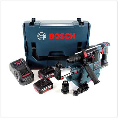 Bosch GBH 18 V-26 F Perforateur sans fil Professional SDS-Plus avec Boîtier de transport L-Boxx + Collecteur de poussière sans fil GDE 18 V-16 + 2x Batteries GBA 5 Ah + Chargeur GAL 1880 CV – Bild 2