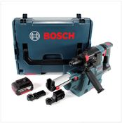 Bosch GBH 18 V-26 Perforateur sans fil Professional SDS-Plus avec Boîtier de transport L-Boxx + Collecteur de poussière sans fil GDE 18 V-16 + 1x Batterie GBA 5 Ah - sans Chargeur