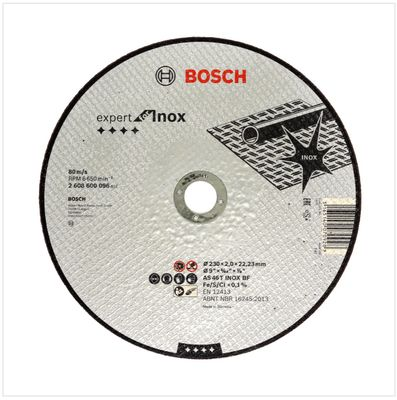 Bosch Professional GWS 22-230 JH 2200 W 230 mm Winkelschleifer + 25x Bosch AS 46 T INOX BF Trennscheibe – Bild 4