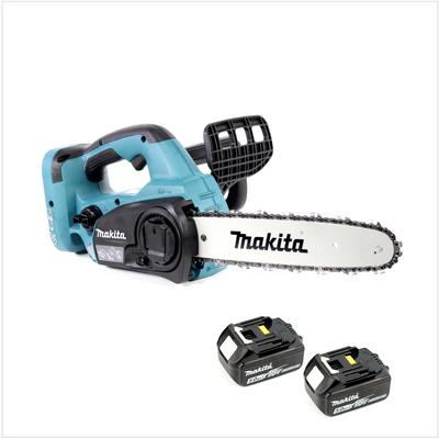 Makita DUC 302 30cm Akku Kettensäge mit 2 x 18 V = 36 V Leistung + 2x BL 1850 B Akkus , ohne Ladegerät – Bild 2