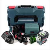 Bosch Professional GLL 3-80 CG Linienlaser in L-Boxx + 1x GBA 12 V 2,0 Ah Akku + 1x GAL 1230 CV Ladegerät + Zubehör ( 0601063T00 )