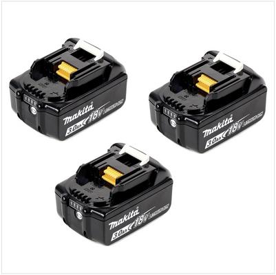 3x Batteries Makita BL 1830 B 18V - 3 Ah / 3000 mAh Li-Ion avec témoin de charge intégré – Bild 2