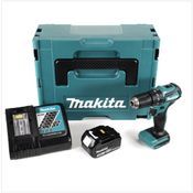 Makita DHP 483 RF1J 18 V Li-Ion Perceuse visseuse à percussion sans fil 18 V Brushless en Coffret MAKPAC + 1x Batterie BL 1830 3,0 Ah + Chargeur DC18RC