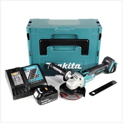 Makita DGA 504 RM1J 18 V 125 mm brushless Akku Winkelschleifer im MAKPAC inkl. 1x BL 1840 B Akku + DC18RC Ladegerät – Bild 2