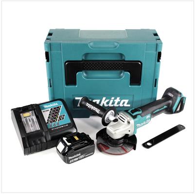 Makita DGA 504 RT1J 18 V 125 mm brushless Akku Winkelschleifer im MAKPAC inkl. 1x BL 1850 B Akku + DC18RC Ladegerät – Bild 2