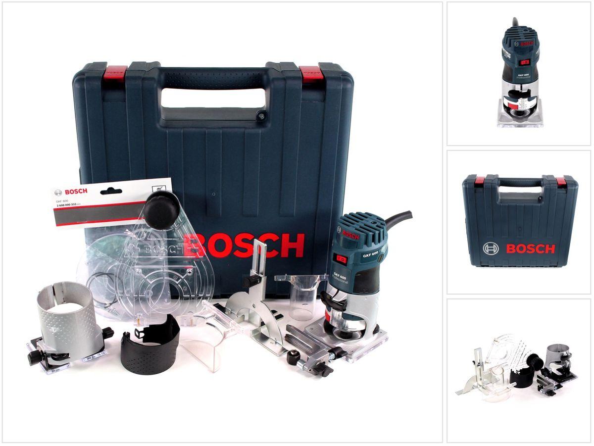 bosch gkf 600 kit professional kanten fräse im koffer mit zubehör