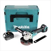 Makita DGA 504 T1J 18 V 125 mm brushless Akku Winkelschleifer im MAKPAC inkl. 1x BL 1850 B Akku - ohne Ladegerät