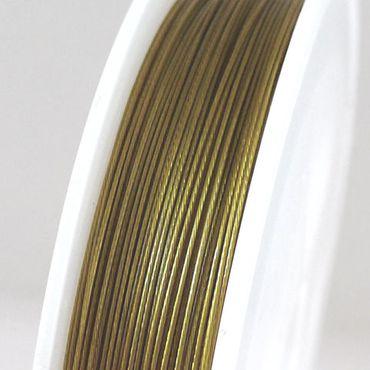 55m Schmuckdraht Basteldraht 0,45mm altgold Draht nylonummantelt  -1291 – Bild 1