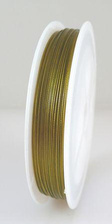 55m Schmuckdraht Basteldraht 0,45mm altgold Draht nylonummantelt  -1291 – Bild 2