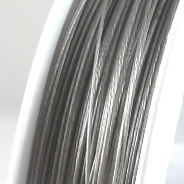 70m Schmuckdraht Basteldraht silber nylonummantelt 0,38mm Draht Basteln – Bild 1